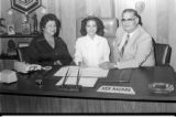 Ken Maynor presenting check to Jackie Jacobs, Miss Lumbee, 1981
