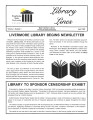 Library Lines Volume 1, Number 1 April 1992